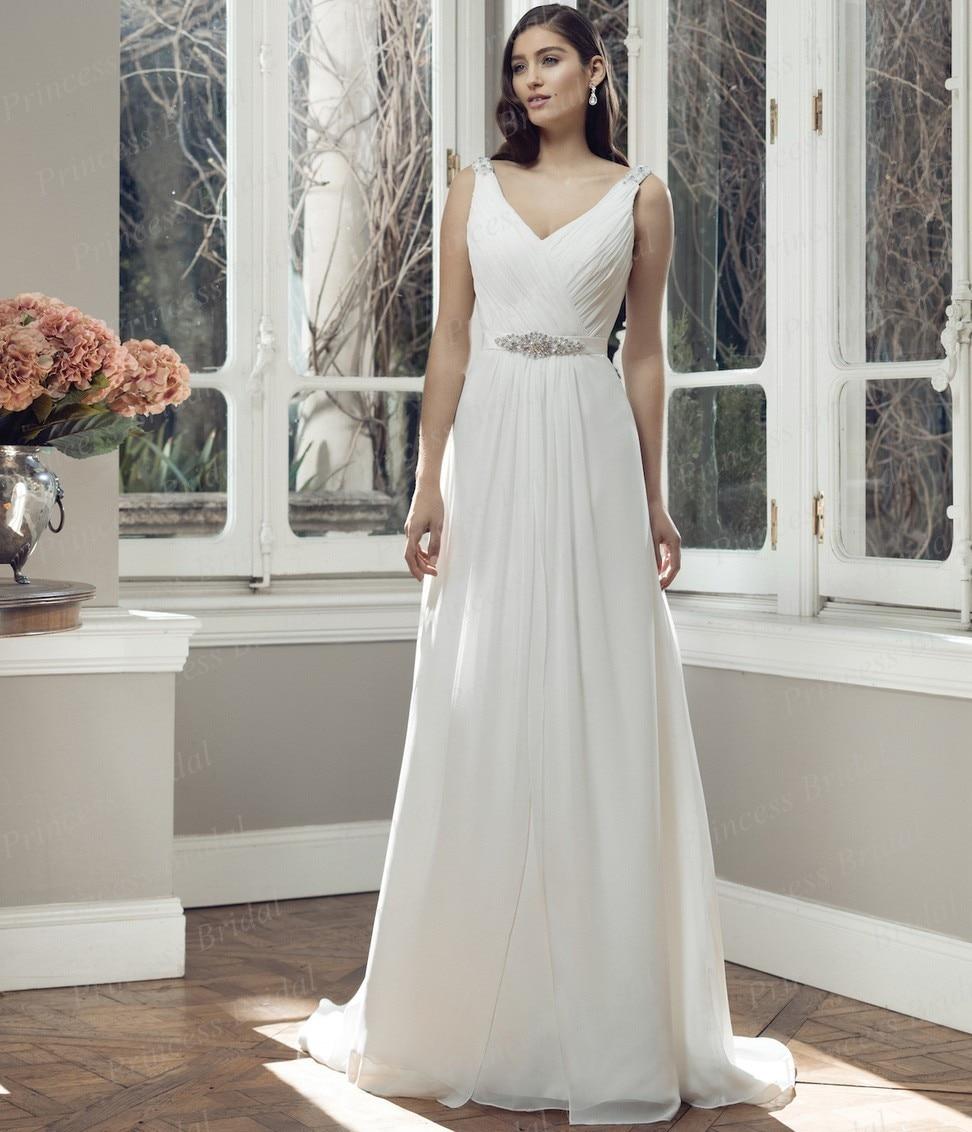 Simple But Elegant Wedding Dress: Free Shipping Simple But Elegant Bridal Gown Sheath V Neck