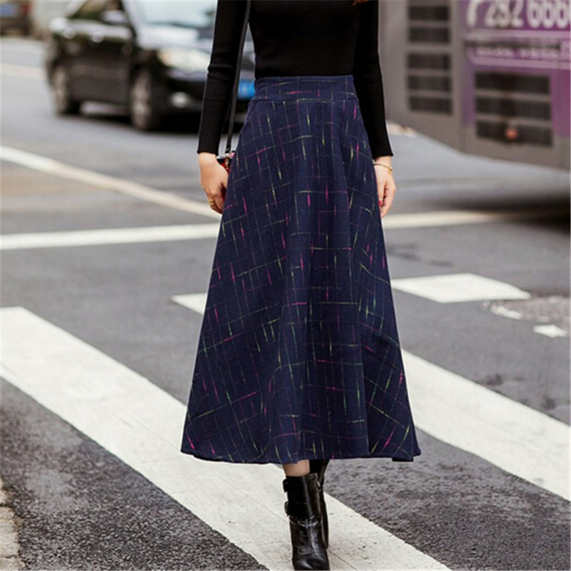 Popular Long Plaid Skirts-Buy Cheap Long Plaid Skirts lots from ...