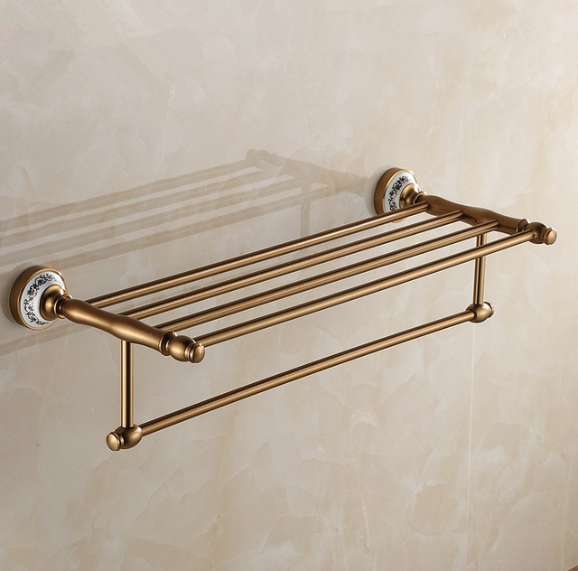 2016 luxury antique design towel rackmodern bathroom accessories towel bars shelf romantic towel