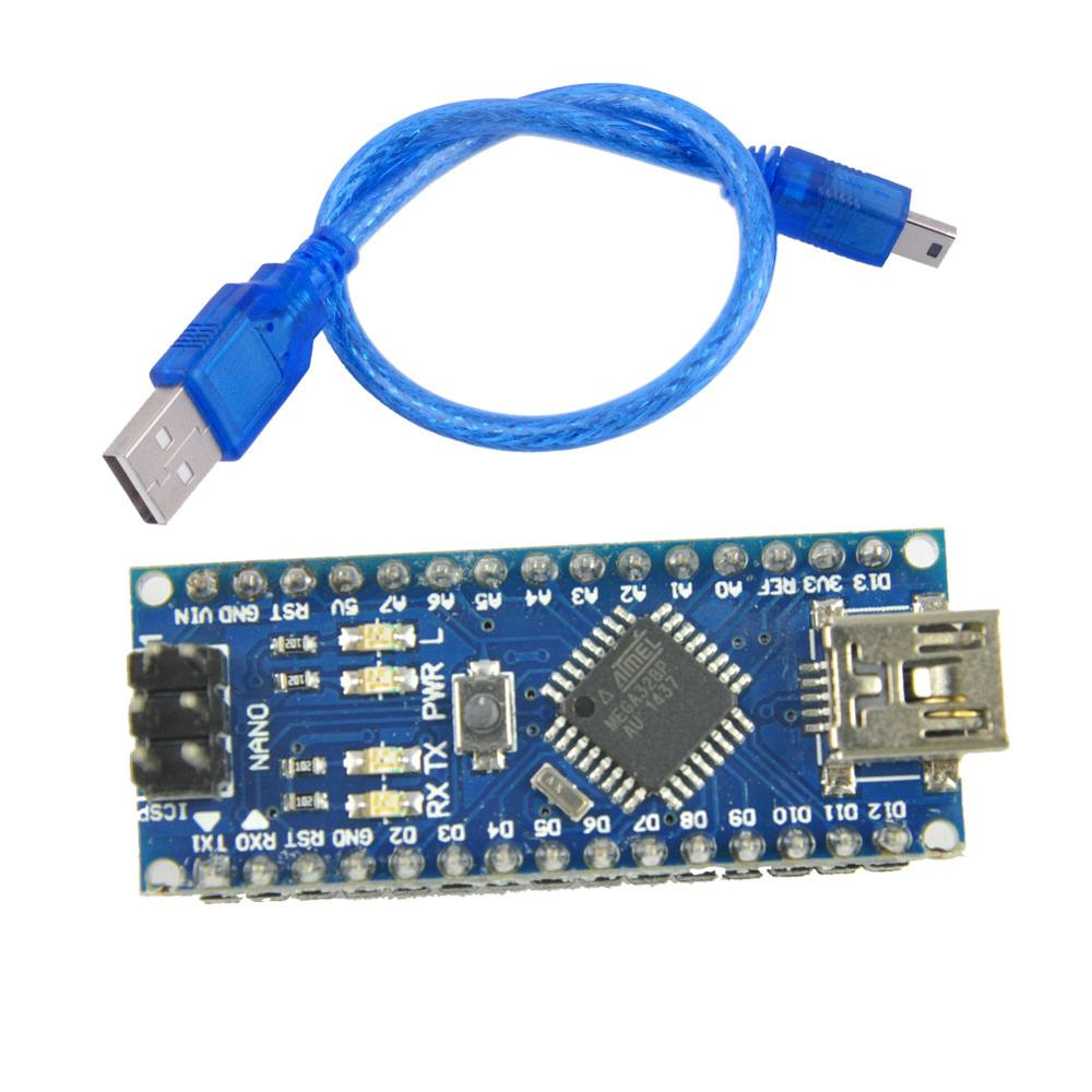 For Mini USB Nano V3.0 ATmega328P 5V 16M Micro Controller Board CH340 Chip With MINI USB Cable For Arduino FZ1442A