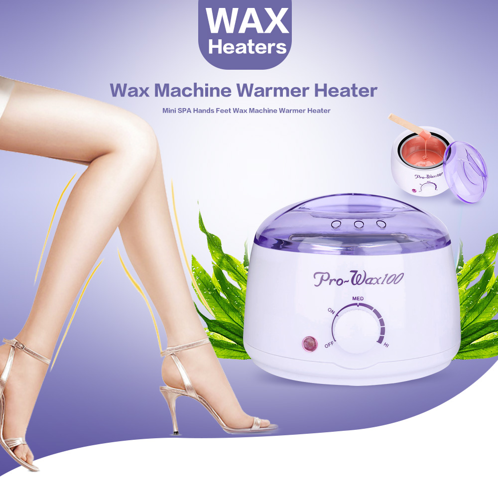Professional Warmer Wax Heater Epilator 500ml Mini SPA Hand Feet Paraffin Wax machine Rechargeable Body Depilatory Hair Removal