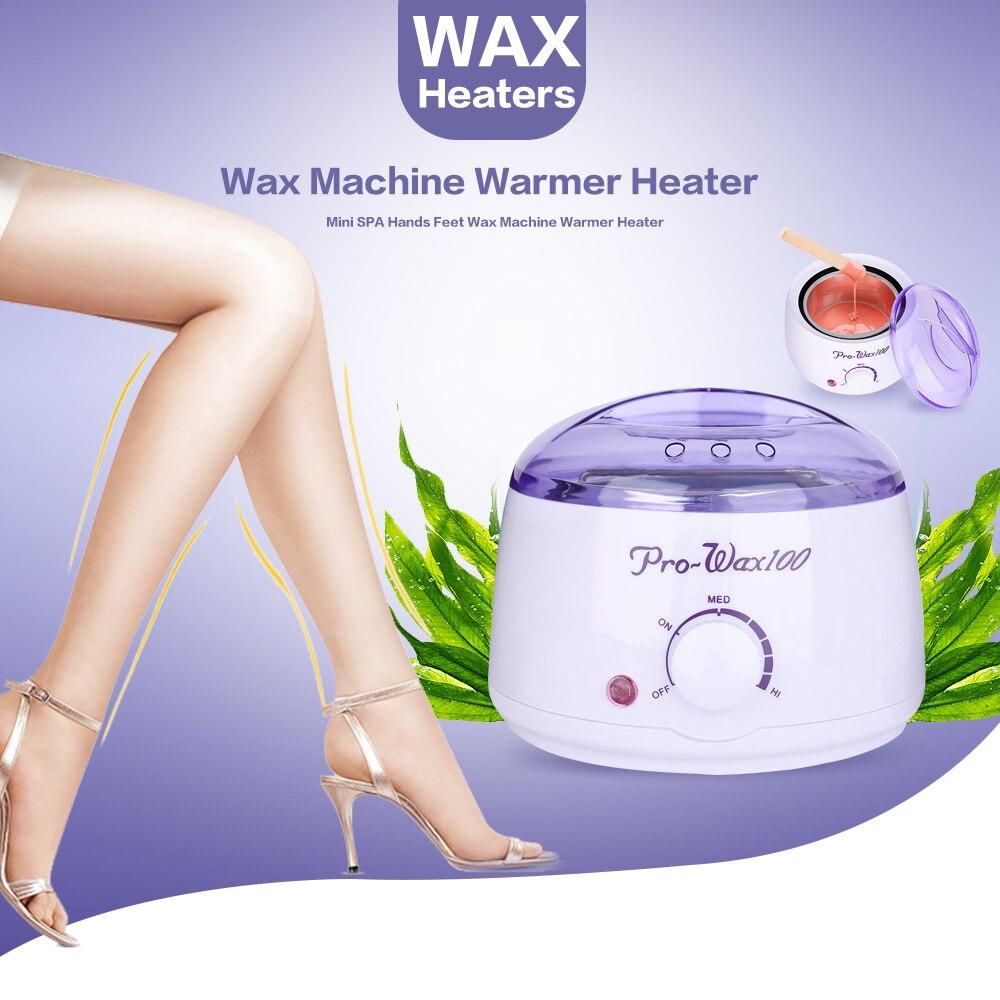 Professional Warmer Wax Heater Epilator 500ml Mini SPA Hand Feet Paraffin Wax machine Rechargeable Body Depilatory Hair Removal