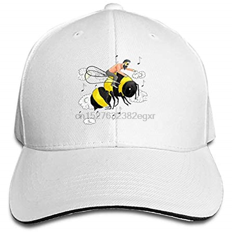 Men's Baseball Caps Apparel Accessories Sporting Man On Bee Adjustable Sandwich Baseball Cap Cotton Snapback Peaked Hat