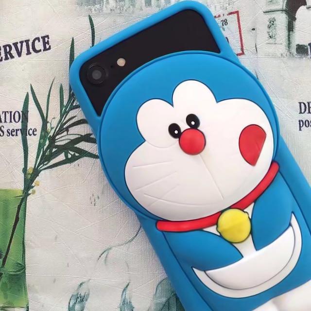 Per iphone s più blu cartone animato doraemon caso di protezione