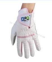 hot sale B G white genuine leather women font b golf b font gloves