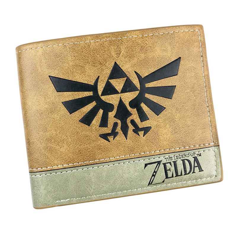 Anime Game The Legend of Zelda More Card Holder Short Wallet Youth Money Bag for Boy or Girl Gift Pocket Purse anime cartoon pocket monster pokemon wallet pikachu wallet leather student money bag card holder purse