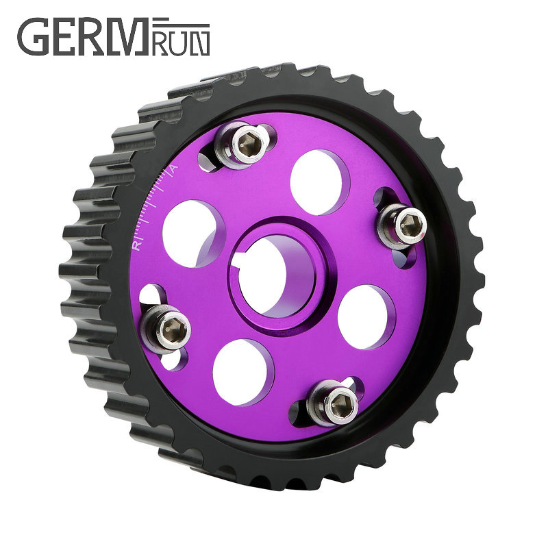Purple Cam Gear Aluminum ENGINE MOTOR Cam Pulley Timing Sproket fit for HONDA B16A