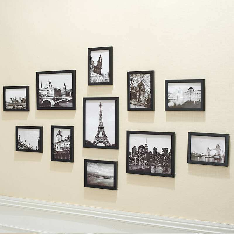 11Pcs Wall Hanging Photo Frame Set For Hallway Bedroom Living Room Family Wall Decoration Modern Art Home Decor Picture F003