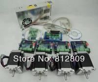 CNC Комплект 4 оси комплект контроллера, 57 78 мм 3A шаговый двигатель + ЧПУ 3 оси TB6560 шаговый двигатель Драйвер + 250 Вт Мощность питания
