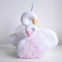 Ins Лидер продаж взрыв милый лебедь двухсторонних печатных подушку Подушки для девочки детская кровать украшения комнаты подарок для ребенк...