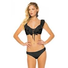 Купить с кэшбэком Newest Brazilian Bikini Set 2019 Sexy Off Shoulder Bikini Mujer Swimwear Women Swimsuit Halter Push Up Bathing Suits