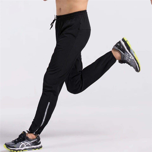 Men Running Pants Gym Fitness Sports Legging Jogger Basketball Training Workout Running Trousers Sportswear Reflective
