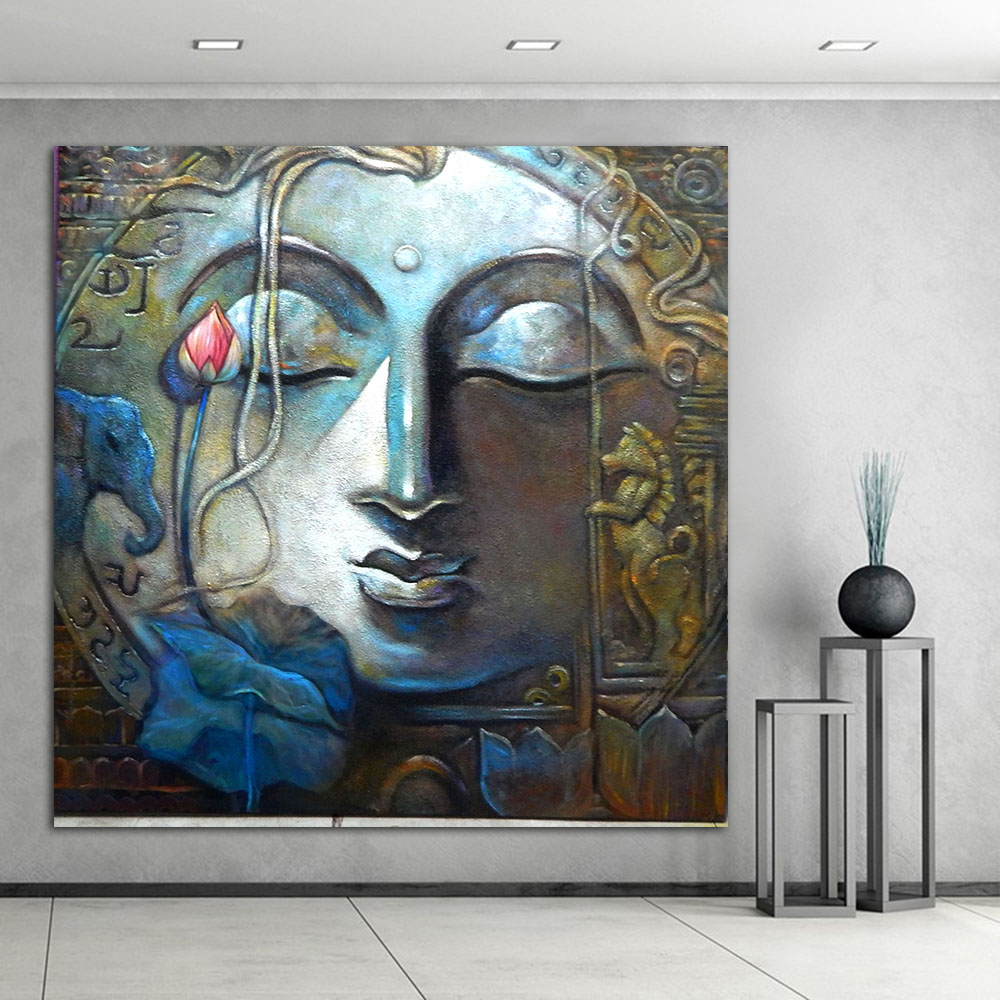 Framed Home Decor Canvas Print Painting Wall Art Buddha: Buddha Painting Canvas Art Home Decor Wall Art Oil