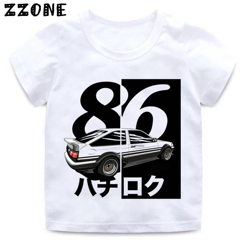 Ae86 Ini-Tial D Teenage Zipper Hoodie Anime Sweatshirt With Kangaroo Pocket For Boys Girls Kids