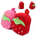 New 2017 Strawberry Cartoon Soft Fabrics Baby Bag Backpack Children's School Bags For Girl School Backpack mochilas infantis