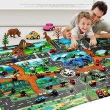 Детская игрушечная карта динозавра, коврик для ползания в помещении, игровой коврик 130*100 см, ролевые игры, Интерактивная игрушка для раннего образования, подарки для мальчиков и девочек