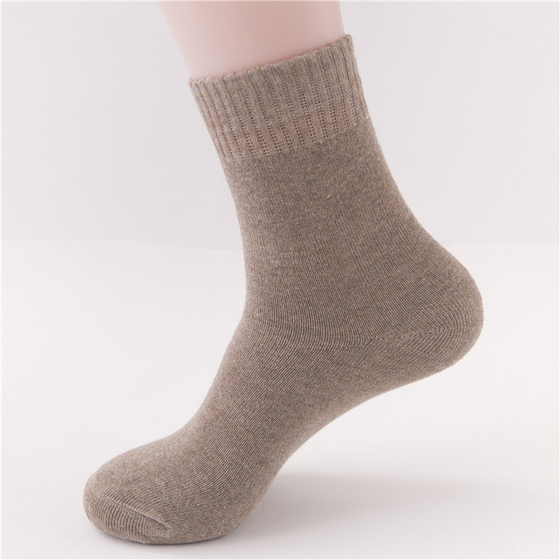 2Pairs Casual Men Winter Socks For Male Low Cut Ankle Socks Short Solid Color Thick Warm Compression Socks Men Meias Homens