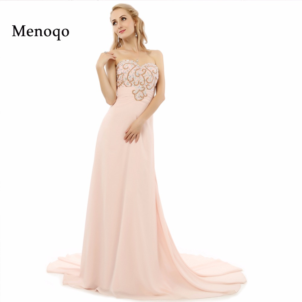 Abendkleider New Arrival Real Sample 2019 A line Chiffon Long Dress Special occasion Robe De Soiree Beaded Long Evening Dresses