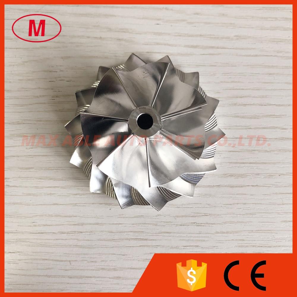 GT28 7 + 7 лезвий 49,70/67,40 мм высокопроизводительная турбозаготовка/алюминий 2618/Фрезерное колесо компрессора для 446179-0094/816366-0001