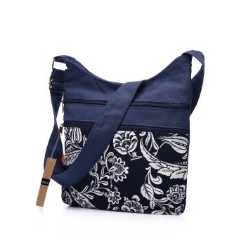 Cotton Fabric Sling Shoulder Bag Women's Vintage Hippie Patchwork Messenger Bag Thai Style Hobo Shoulder Gypsy Bag 1