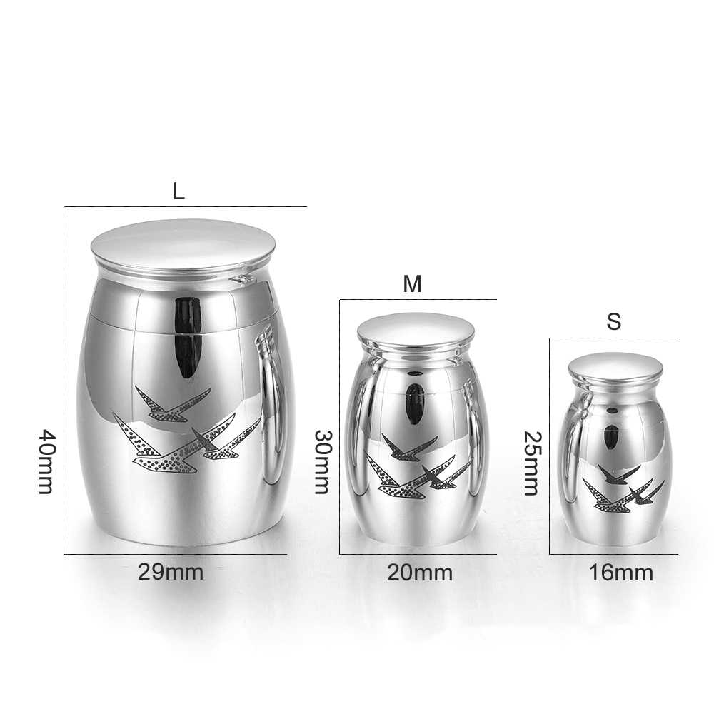 KLH036 Coffee Gold Mini Cremation Keepsake Urns for Human