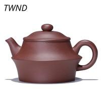 170CC Purple clay handmade teapot kungfu kettle friend gift drinkware suit black tea puer tea