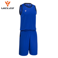 VICLEO Brand Men's Basketball Jersey Competition Uniforms Suits Breathable Sleeveless Quick Dry Sports Clothes Sets 16L01017