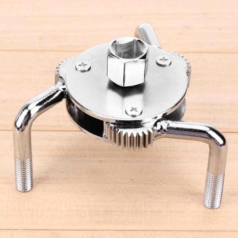 Llave de filtro de aceite de 2 vías y 3 mandíbulas de 2,5 a 4,75 pulgadas herramienta de removedor ajustable