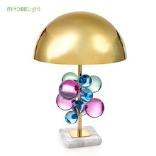 Modern Creative Stainless Steel Table Lamps For Living Room deco Crystal Table Light LED Decoration Desk Lamp lighting fixture(China)