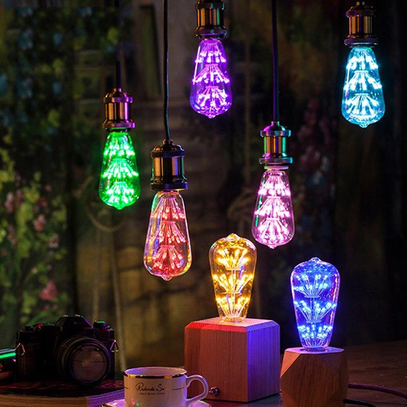 Mising E27 3W 300LM Starry Sky Firework LED Decorative Light Bulb For Party AC85-265V