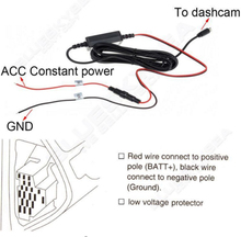 Ddpai 12 v-5 v adaptador de accesorio del vehículo kit de alambre duro para mini/mini2/m6/m6c/m6 plus/m4/m4 plus dashcam