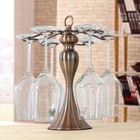 European Metal Wine Rack 6 Wine Glass Cup Stand Wedding Iron Wine Holder Hanger Home party Decor Bar Wine Glass Rack