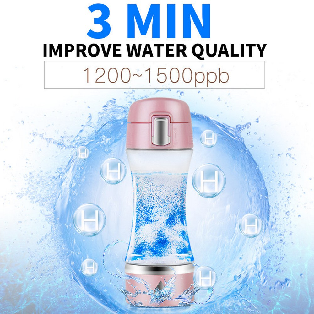 1Pcs Hydrogen Rich Generator Water Ionizer Bottle with Drain Hole Seperate H2 and O2 High Pure hydrogen generator PET bottle Use in Water Bottles from Home Garden
