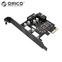 ORICO PCI post card Express Expansion Card USB 3.0 PCI E 2 Port 15 Pin SATA to big 4 Pin Interface 5 Gbps For Computer Component