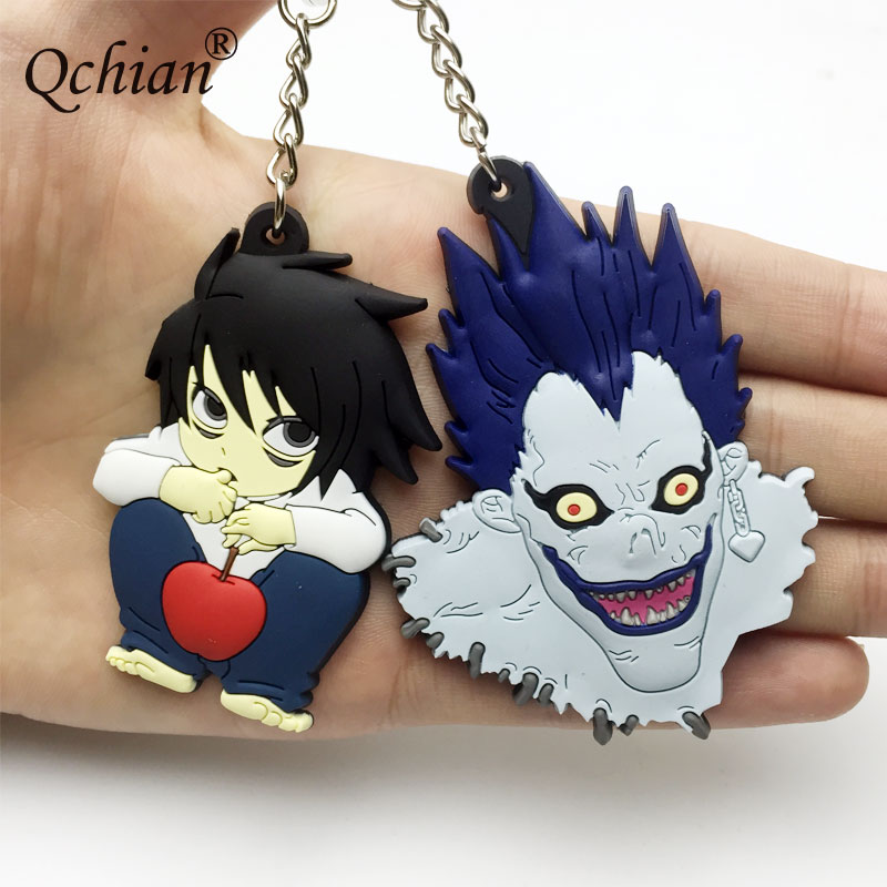Jewelry Sets & More Liberal Death Note Cartoon Edition Grim Reaper Lawliet Silicone Pendant Keychain Backpack Key Decoration Jewelry Carefully Selected Materials