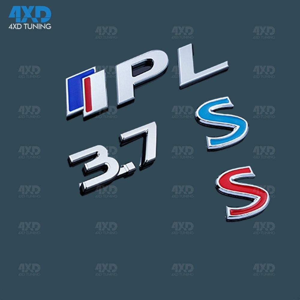 Q50 Emblem IPL 3.7 Metal For Infiniti Q50S Q50 Rear Bumper Logo Sticker Styling Upgrade Q50 S Sport Logo Trim Cover