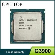 Intel celeron g3900 2.8ghz 2m cache processador cpu de núcleo duplo sr2hv lga1151 bandeja