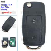 WALKLEE 1J0959753A Upgrade Remote Car Key Fit For VW VOLKSWAGEN Lupo Bora Passat Polo Golf Beetle