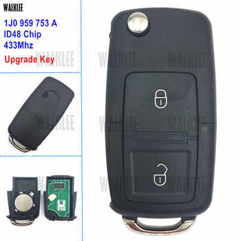 WALKLEE 1J0959753A Upgrade Remote Car Key Fit for VW/VOLKSWAGEN Lupo Bora Passat Polo Golf Beetle 1J0 959 753 A 1JO HLO - DISCOUNT ITEM  5% OFF All Category