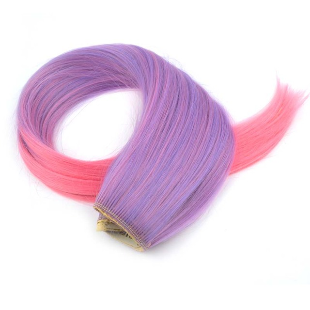 "24"" Colorful Synthetic Clip-In Hair Extension"