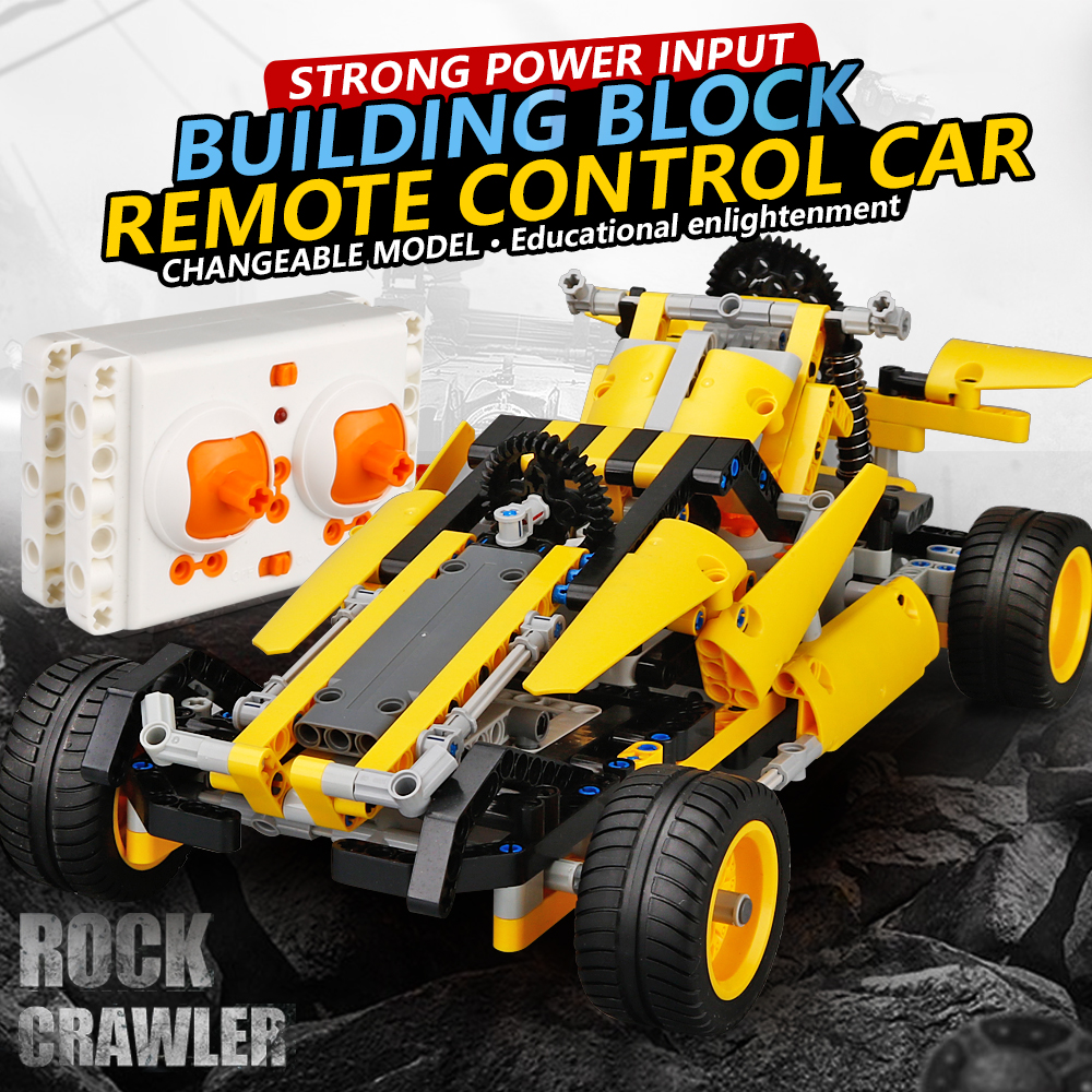NEW DIY building blocks rc car 2017A-23 1:16 2.4g remote control car brain game radio control rock crawler for kid birthday gift