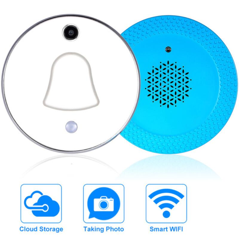 Mini Doorbell Smart Wireless WiFi Video Doorbell Photos Automatically Cloud and Local Storage Mobile Phone APP Burglar AlarmMini Doorbell Smart Wireless WiFi Video Doorbell Photos Automatically Cloud and Local Storage Mobile Phone APP Burglar Alarm
