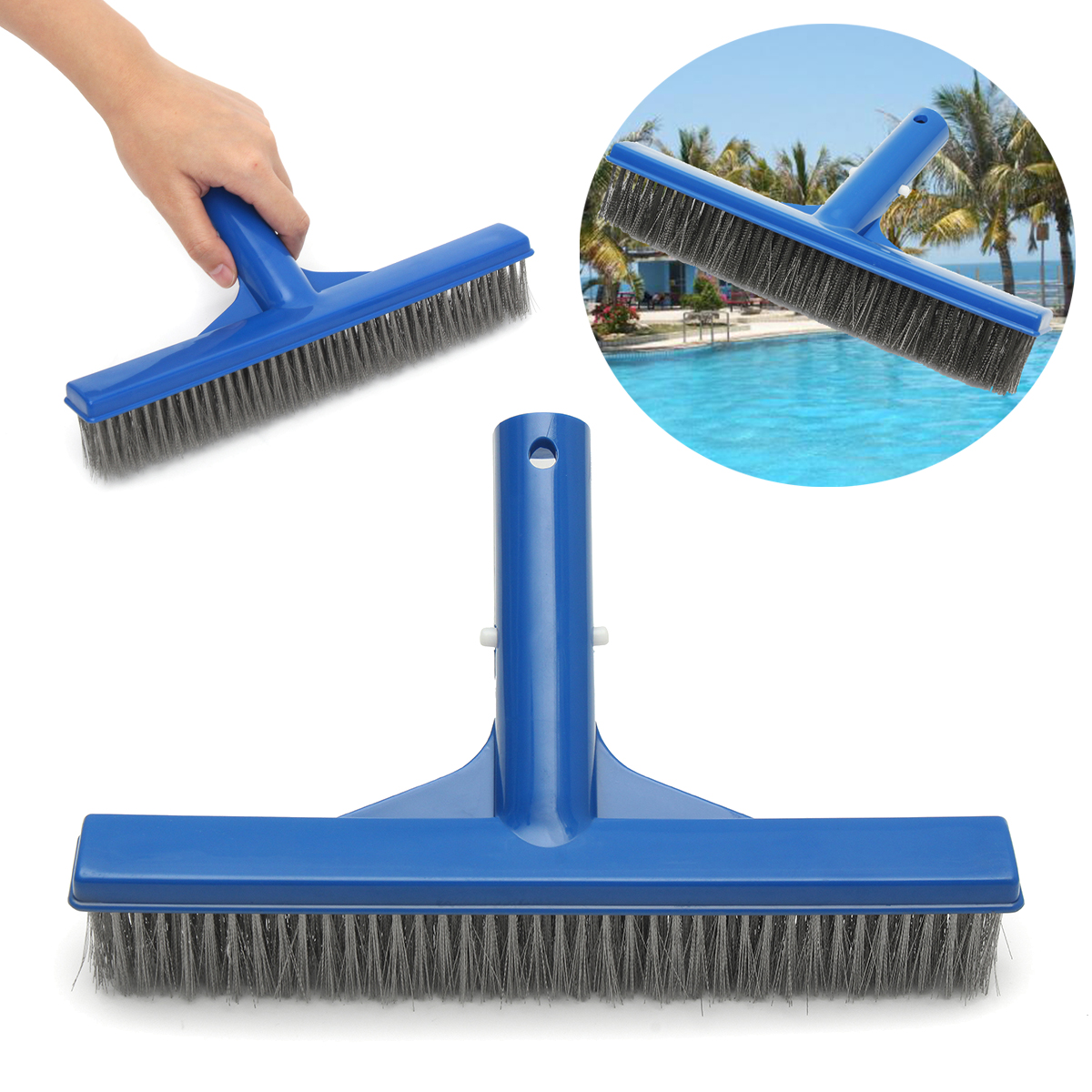 Professional 10 Stainless Steel Swimming Pool SPA HOT TUB Pond Algae Wall Brush Pool Cleaning Brush Pool Cleaning Equipment