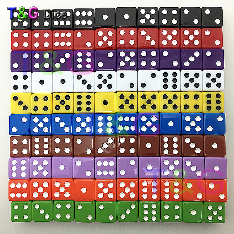 New T&G High Quality Sieve Dice Bulk Wholesales 16mm 6 Sided Cubes For Drinking Gambling Games