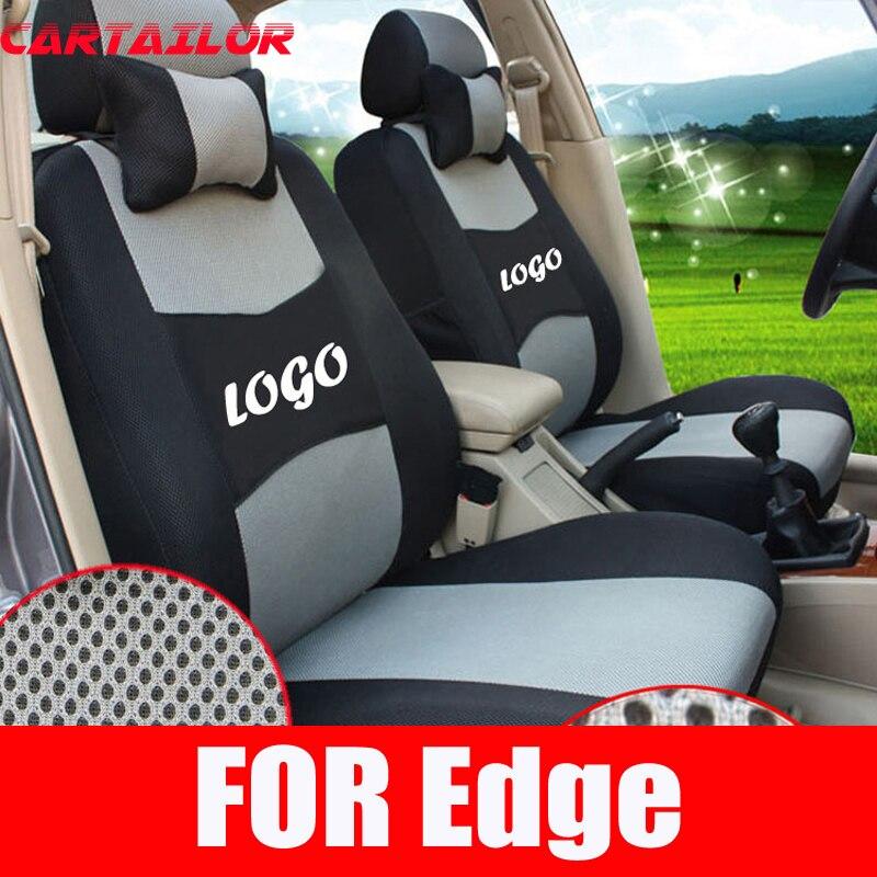 Чехлы для сидений CARTAILOR для ford edge, внутренние аксессуары для автомобильных сидений, сэндвич ткань, чехлы для автомобильных сидений, набор, че