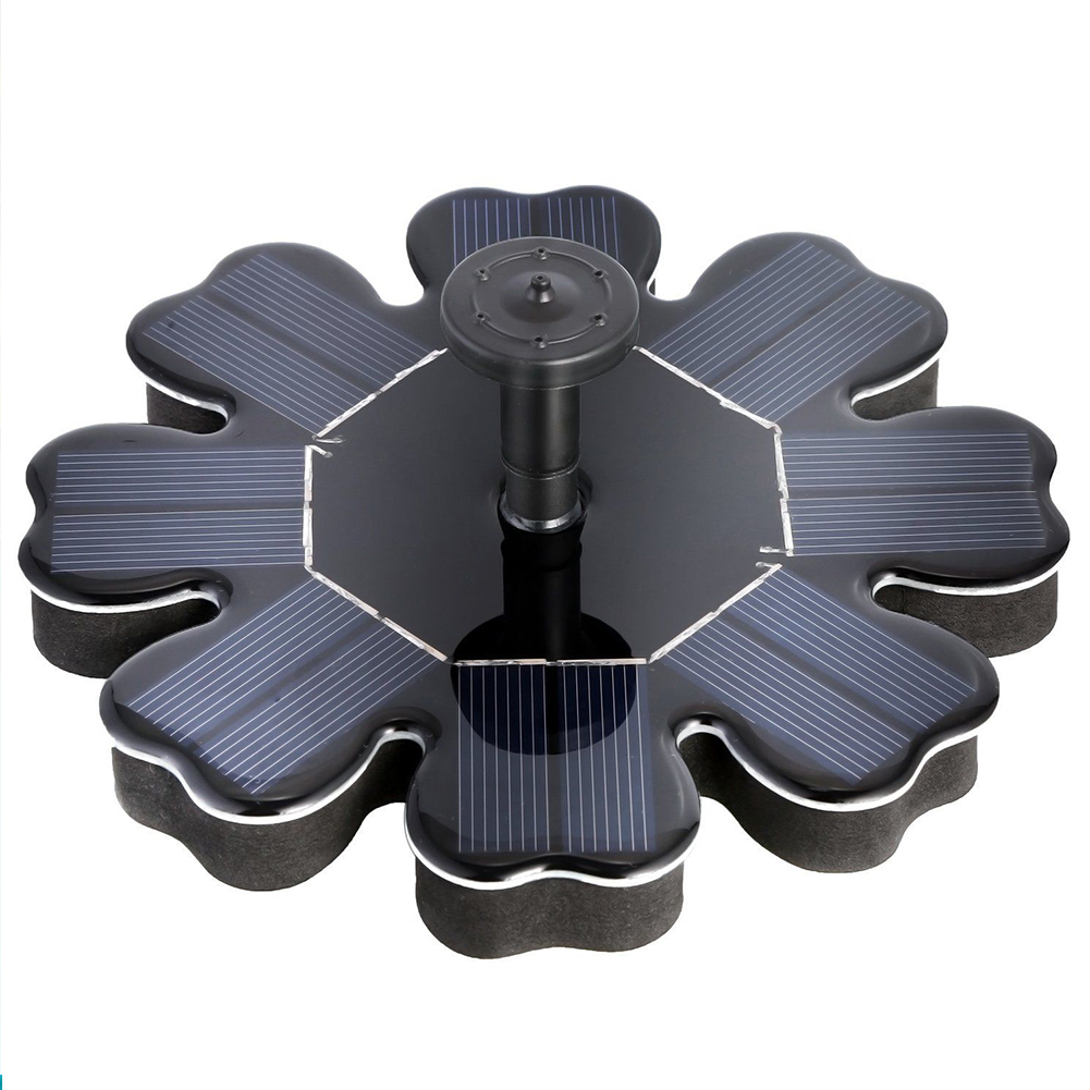 180l/h 8v/1.4w Solar Panel Powered Brushless Water Pump Yard Garden Decor Pool Pond Round Petal Floating Fountain Water Pump