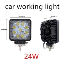 1 Pcs 24W 4 inch Led Work Light offroad 4×4 Off-road light bar for ATV SUV Truck Boat Spot Beam 2150Lm IP67 Universal