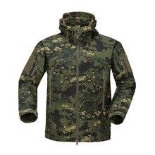 Куртка для охоты, брендовая одежда, осенняя мужская Военная камуфляжная флисовая куртка, армейская тактическая одежда, Мультикам, Мужская камуфляжная куртка