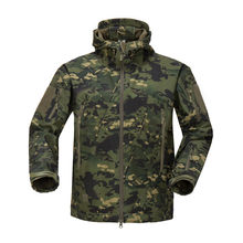 Hunting jacket Brand Clothing Autumn Men's Military Camouflage Fleece Jacket Army Tactical Clothing Multicam Male Camouflage(China)