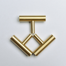 Tbar Gold Brass Kitchen Cabinet Drawer Knobs and Pulls Cupboard Dresser Door Handle-4Pack